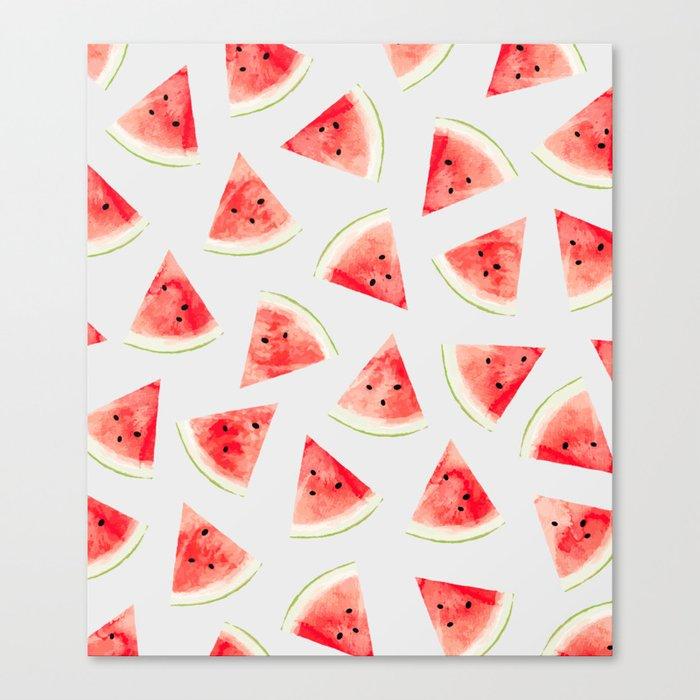 Watercolor Watermelon Pattern #society6 #buyart #decor Canvas Print