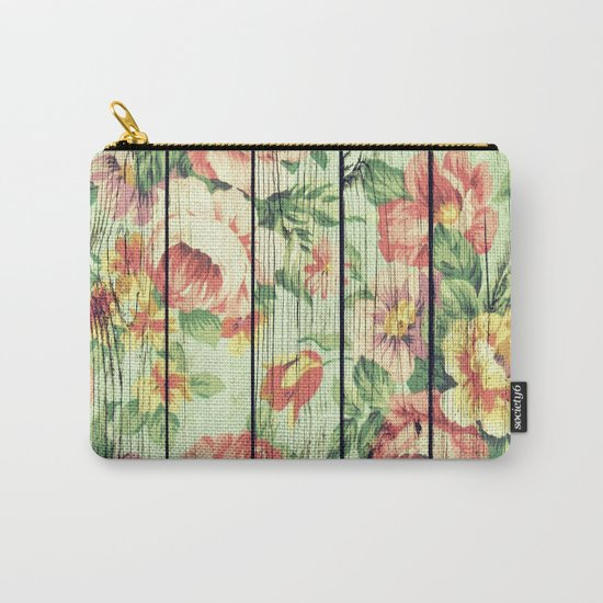 Flowers on Wood 05 Carry-All Pouch