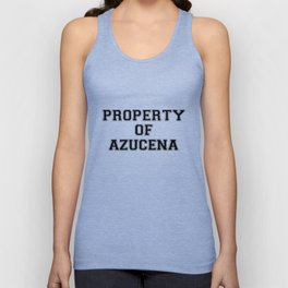 Property of AZUCENA Unisex Tank Top