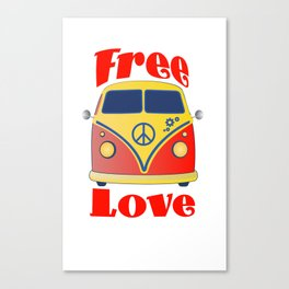 Free Love , festival fantasy with Woodstock in mind Canvas Print