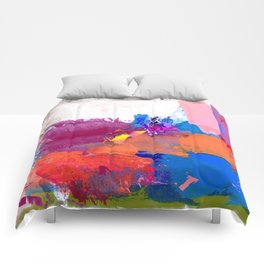 polo abstract red blue Comforters