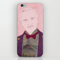 budapest hotel iPhone & iPod Skins featuring The Grand Budapest Hotel II by Itxaso Beistegui Illustrations