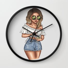 perrie ice cream Wall Clock