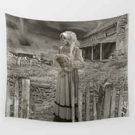 Aunt Em in Kansas as Twister approaches Wall Tapestry