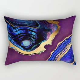 Agate Abstract Rectangular Pillow