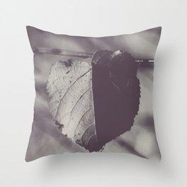 Bicolor heart Throw Pillow