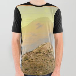 power lines & mountain highs All Over Graphic Tee