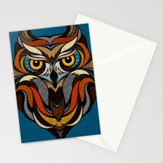 Oldschool Owl Stationery Cards