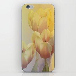 Tulips in golden light iPhone Skin