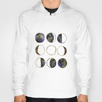 moon phases Hoodies featuring Phases of the Moon by Lindsay Milgrim