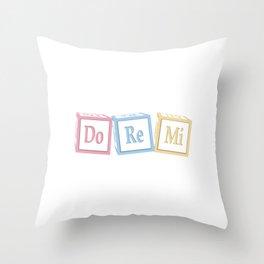 Do Re Mi Musical Baby Blocks Throw Pillow