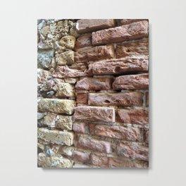 Brick Wall, Coral, St. Thomas, USVI Metal Print