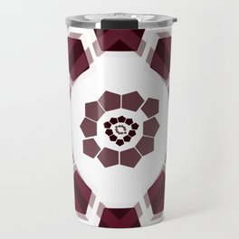 GeoFlower - Plumb on White Travel Mug