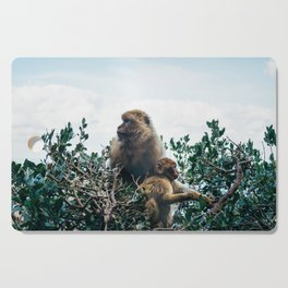 Macaque Mother and Daughter Cutting Board