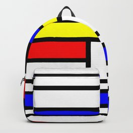 Cubism Painting Art Retro Pattern Backpack