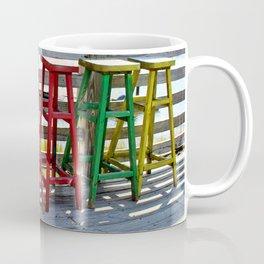 Weathered Bar Stools Coffee Mug