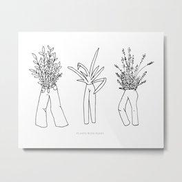 Plants with Pants Metal Print