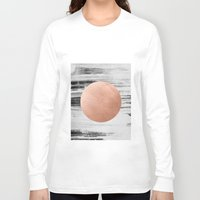 rose gold Long Sleeve T-shirts featuring rose gold #1 by LEEMO