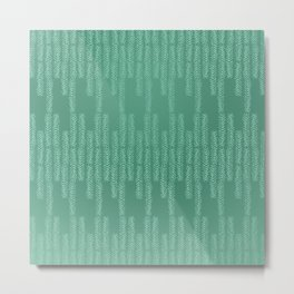Eye of the Magpie tribal style pattern - mint green Metal Print