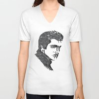 elvis V-neck T-shirts featuring Elvis by Alessia Bogdanich