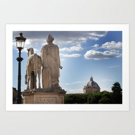 Castor's View of Rome Art Print