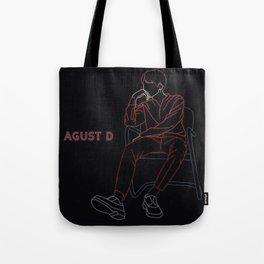 BTS SUGA AGUST D LINE ART Tote Bag