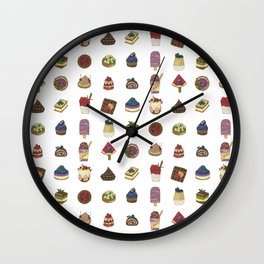 Tiny Desserts Wall Clock