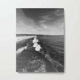 Newport Beach Waves 2 Metal Print