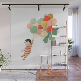 Wonderful Things Balloon Baby by Emily Winfield Martin Wall Mural