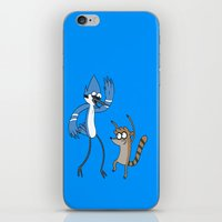 regular show iPhone & iPod Skins featuring Regular show by Duitk