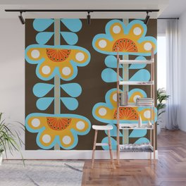 swedish flowers Wall Mural