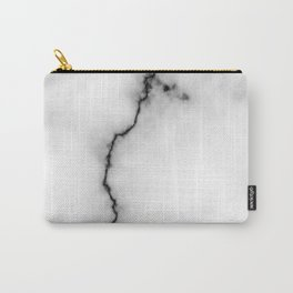 Black and white marble texture 9 Carry-All Pouch