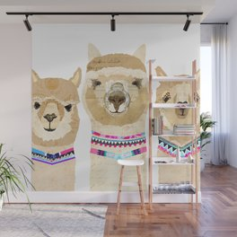 Colorful Alpaca Collage Wall Mural