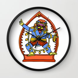 Ancient Egyptian Painting - Male Deity Wall Clock