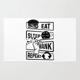 Eat Sleep Wank Repeat - Masturbation masturbate Rug