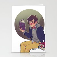 preppy Stationery Cards featuring preppy dipper by monsternist