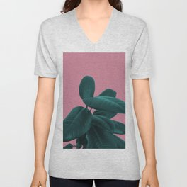 Ficus Elastica #11 #WildRose #decor #art #society6 Unisex V-Neck