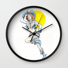 Queen of the Rodeo Wall Clock
