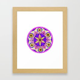 Crystaline Nature Mandala Framed Art Print