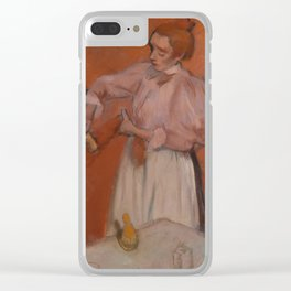 Combing the Hair Clear iPhone Case