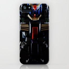 Blue Gundam in the Dark iPhone Case
