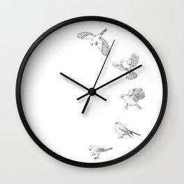 Juncos in Winter Wall Clock
