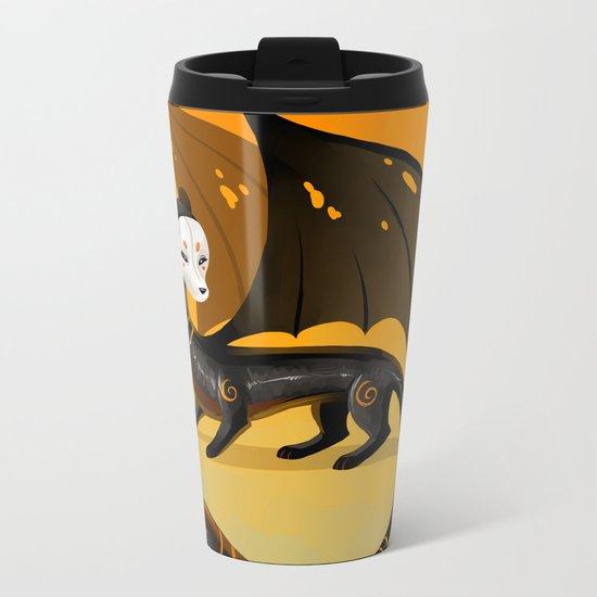 Black Stoat Metal Travel Mug