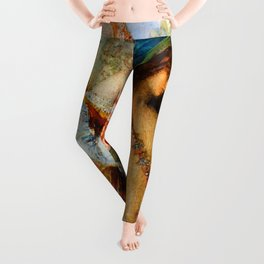 "Gustave Moreau ""The Voices. Hesiod And The Muse"" Leggings"