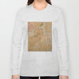 Vintage Map of Boston MA (1902) Long Sleeve T-shirt