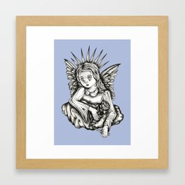 Angel, with Rose & Dagger Framed Art Print