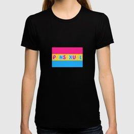 Pansexual Pride Flag Omnisexual Bisexual Equality Pan Pun Gift Cool Humor Design T-shirt