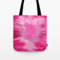 poem Tote Bags featuring pink poem  by sladja