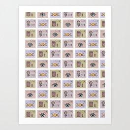 Esoteric Magic Postage Stamps Art Print