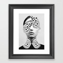 Woman Butterfly Framed Art Print